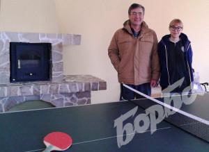 Залата за тенис на маса в къщата