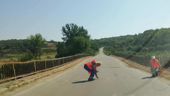 Под угроза от протести започна ремонтът на опасен мост