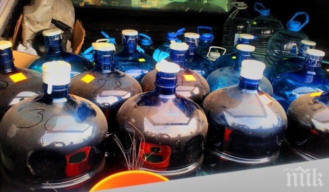 1858 литра алкохол намериха в мазето на горнооряховска баба