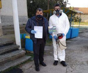 Безвъзмездно дезинфектираха обществените сгради във Велчево
