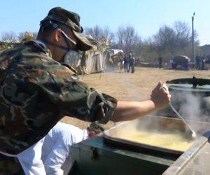 Курсанти от НВУ проведоха подготовка по разгръщане на военно-полева болница и изхранване на 400 човека