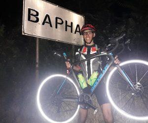 11 часа и 5 спукани гуми бяха нужни на търновеца Димитър Дикелов да стигне от старата до морската столица с колело